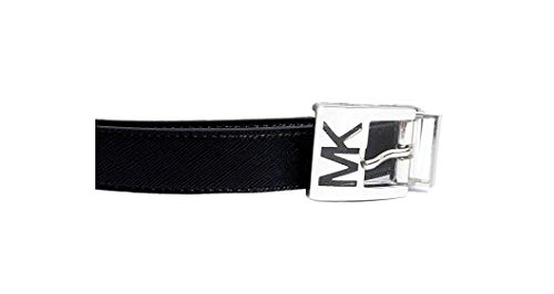 MICHAEL Michael Kors Reversible Faux Leather Belt with MK Logo Buckle (Medium)