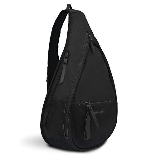 Sherpani Esprit, Nylon Sling Bag, Shoulder Sling Bag, Chest Shoulder Bag, Crossbody Sling Backpack for Women Fits 7 Inch Tablet, RFID Protection (Raven)