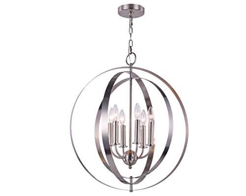 JKCKHA Northern Europe - Lámpara de techo colgante de hierro chapado en níquel color estilo americano iluminación para el hogar