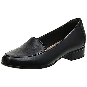 Clarks Women's Juliet Lora Loafer, black leather, 085 W US