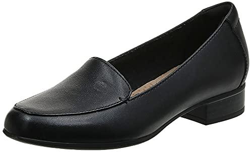 Clarks Women's Juliet Lora Loafer, black leather, 080 W US