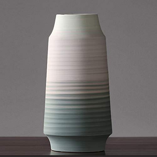 Vase Nordic Stil Minimalist Licht Luxus Keramik Weiß Home Decoration Dekorative Vase (Farbe : Vase B)