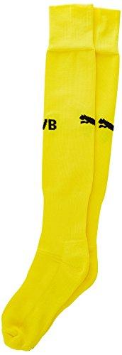 PUMA Herren Stutzenstrümpfe BVB Socks Stutzen, Cyber Yellow/Black, 4