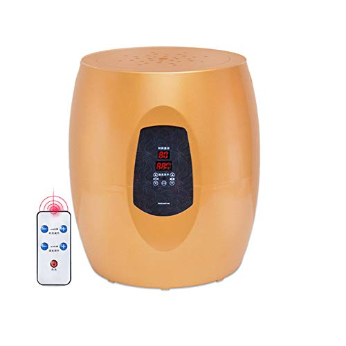 Intelligent Steam Seat, Portable Fumigation Instrument, Far Infrared Steam Seat Herbal Evaporator, Sitting Fumigation Instrument for Women's Healthy Hip Ray,Gold