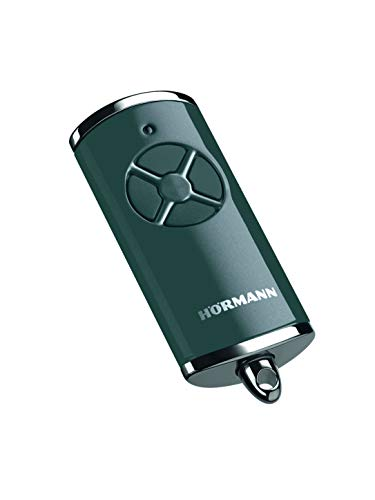 Hörmann Handsender HSE 4 BS (Frequenz 868 MHz, Hochglanz Anthrazit, Garagentorantrieb mit Chrom-Kappen, Batterien, Maße 28x70x14 mm, inkl. Schlüsselring) 4511573