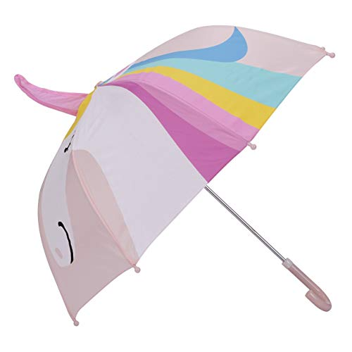 Paraguas con diseño de Unicornio para niños con Seguridad Abierta y Cerrada por Micaddy | Edad 3-7 años