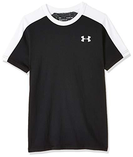 Under Armour Sportstyle - Camiseta de Manga Larga para niño, Niños, Manga Larga, 1343288, Negro (001)/Blanco, Youth L