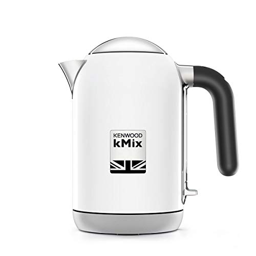 Kenwood kMix electric kettle 1 L White 2200 W kMix, 1 L, White, Metal, Buttons, Button, Stainless steel