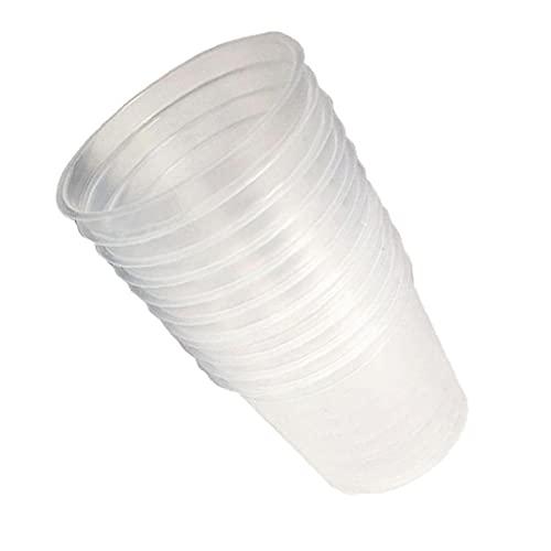 Obelunrp Tazas de Mezcla de Pintura de plástico 600ml de Lanzamiento Transparente Milliliter Copas de contenedores 10pcs Equipo eléctrico portátil