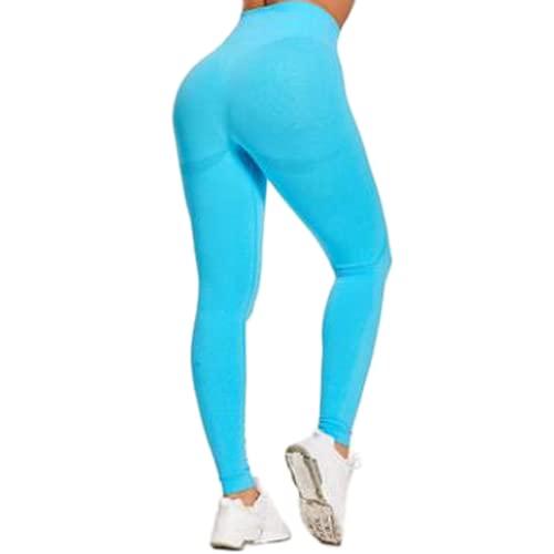 QTJY Moda melocotón Cadera Cintura Alta Pantalones de Yoga Deportes Delgados Que absorben el Sudor Medias de Grasa al Aire Libre Pantalones Deportivos para Correr DS