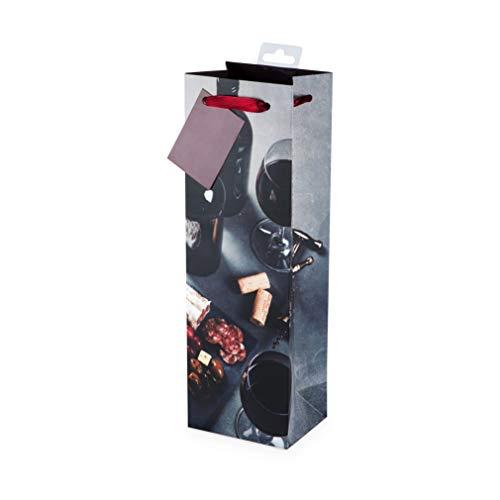 Cakewalk (Bags) Vineyard Single Bottle Red Wine Bag, Multicolor