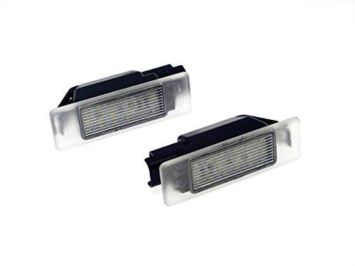 TMT LEDS(TM) Plafones LED Matricula Compatible con Peugeot RCZ 307 / 308 BERLINA 406 Coupe Citroen DS3 Homologado E4 CE Luces LED