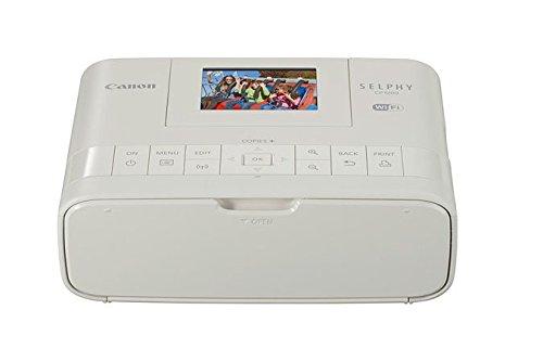Canon CP1200 Selphy Stampante Fotografica Compatta, 300 x 300 dpi, Wi-Fi, Versione Standard, Bianco