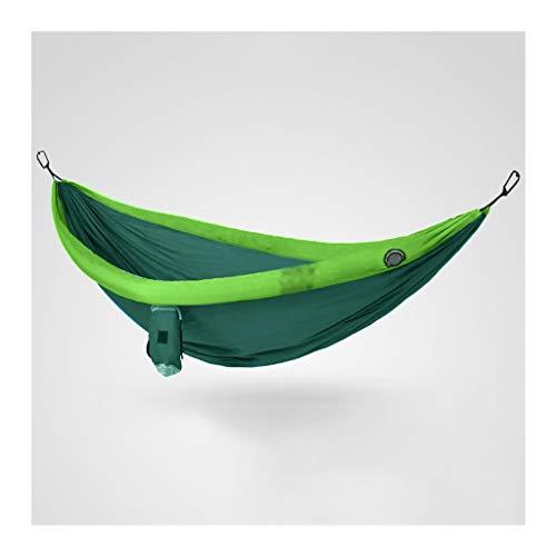 Hamacas al Aire Libre Hamaca al aire libre doble hamaca al aire libre anti-rollover Hamaca de acampar salvaje interiores y al aire libre silla colgante columpio 106.5x55.1 pulgadas Hamacas Jardin