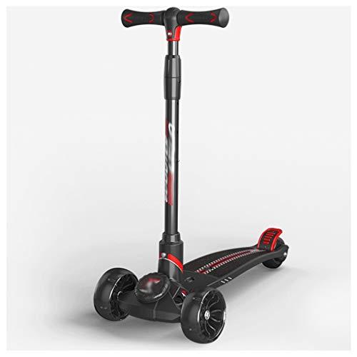 LZL Roller für Kinder Übergroßer Pedal-Kick-Roller für Kinder - einstellbare Höhe w/extraweite Deck...