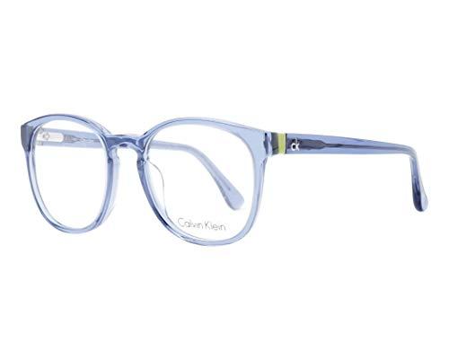 Calvin Klein Brille (CK-5880 423) Acetate Kunststoff kristall blau