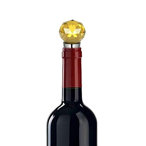 Tiranranrt Küche Essbar Stahl Champagner Stopper Sekt Flaschenverschluss Sea Diamond Crystal Edelstahl(E)
