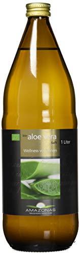 Amazonas Naturprodukte • Bio Aloe Vera Premium Saft (1 Liter) • Mit mind. 1200 mg Aloverose • Aus Mexiko • Hand-filetiertes Blattgel • Ohne Konservierungsstoffe • 100% natürlich