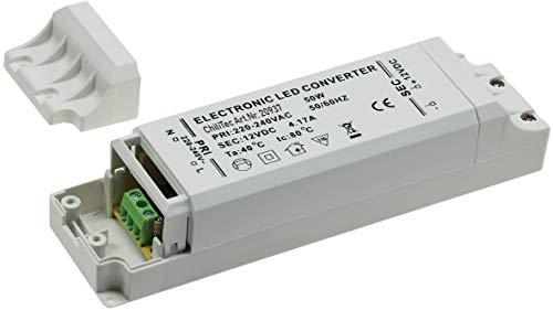 LED Trafo Netzteil 50Watt 12V= für Einbaustrahler Deckenspots und LED Strips I ab 1 Watt