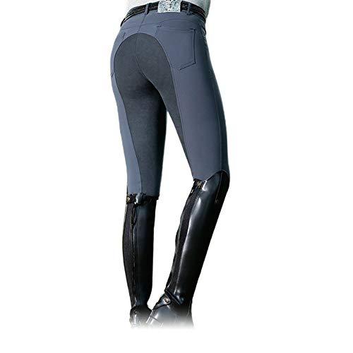 Frolada Reithose Equestrian Long Racing Röhrenhose Damenmode High Waist Elastic Equestrian Pants Horse Hellgrau M.