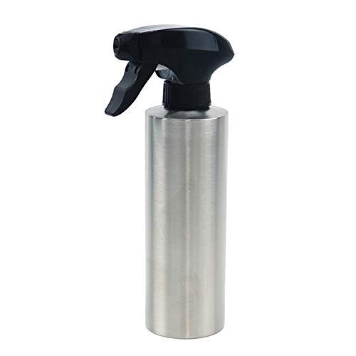 Delisouls Botella pulverizadora de acero inoxidable, pulverizador de aceite, dispensador de aceite de oliva, dispensador de aceite de oliva portátil para barbacoas, cocina, recipiente (350 ml)