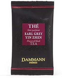 Pasticceria Passerini dal 1919 Dammann Earl Grey Yin Zhen Schwarzer Tee mit weißen Spitzen, Blütenblättern und Kalabria-Bergamotte, 24 Filter, Dammann Frères