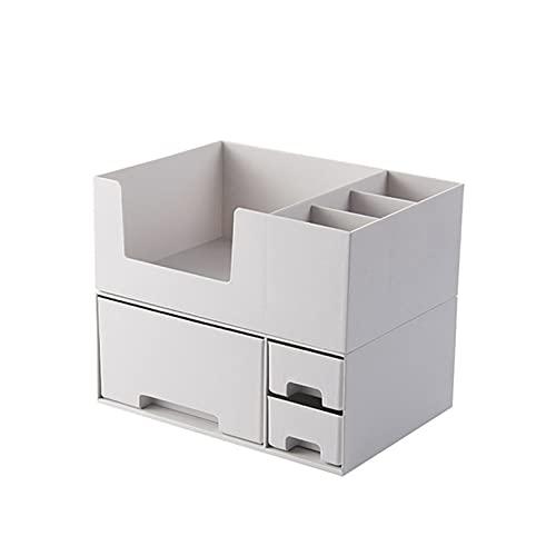 Caja de Almacenamiento cosmética, Estante de hogar de Tipo cajón Combinado apilable White