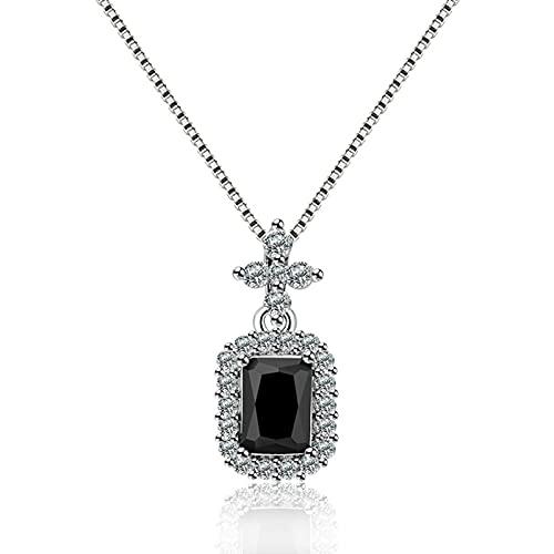 CLKE Collar de circonita para mujer, colgante de cristal, aniversario, cumpleaños, día de la madre, regalo con caja