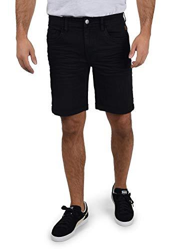 Blend Bendigo Herren Jeans Shorts Kurze Denim Hose elastisches Material mit Stretchanteil Slim Fit, Größe:XL, Farbe:Denim Black (76204)