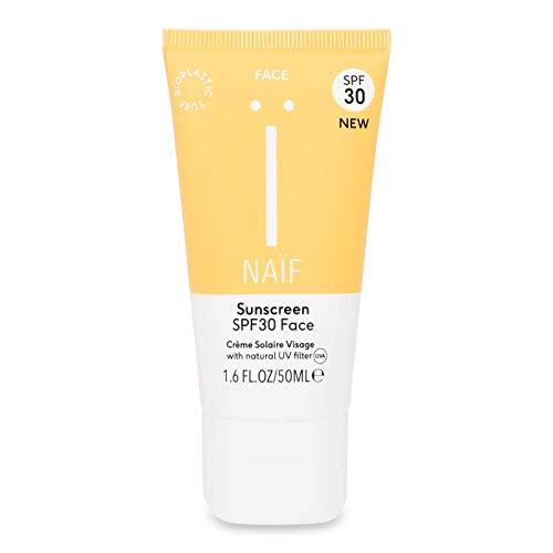 Naïf Natuurlijke zonnebrandcrème factor 30 - voor het gezicht - 50ml