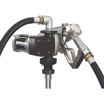 Roughneck Heavy-Duty Fuel Transfer Pump - 15 GPM 12 Volt DC Manual Nozzle Gasoline Compatible