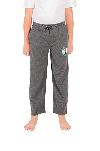 Ultra Game NBA Boston Celtics Youth Sleepwear Super Soft Pajama Loungewear Pants, Team Color, 14/16