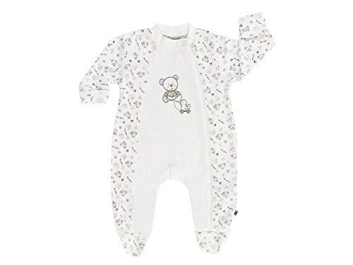 Jacky Unisex muts voor baby's, schattig beermotief, maat: 74, Leeftijd: 7-9 maanden, Off-White,