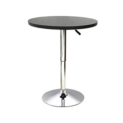 Millhouse Bar Table Adjustable Height Round Bistro 360 Swivel Café Kitchen Home Breakfast Table (Round 60cm, Black)
