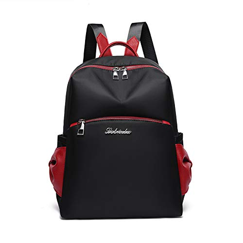 CMZ Backpack Soft Face Trend Bag Oxford Cloth Backpack Pure Color Fashion Female Bag Sports Backpack