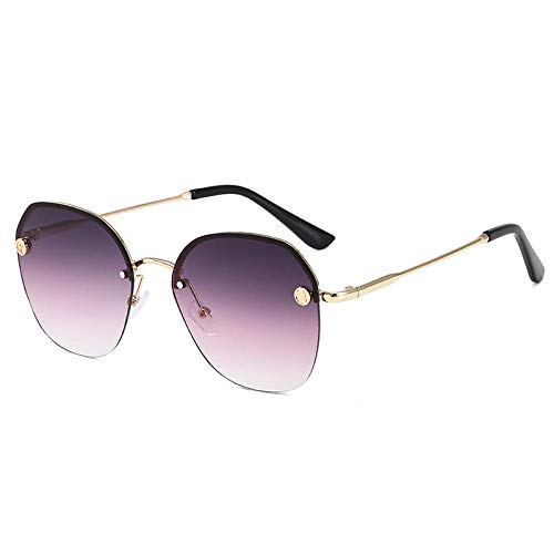 Gosunfly Gafas de sol para conducir gafas de sol femeninas sin montura gafas de sol femeninas visera dorada frame_d