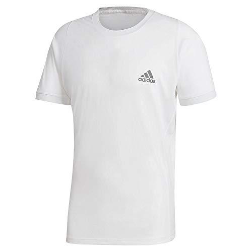 adidas mens Tennis freelift T-Shirt AEROREADY White/Grey XX-Large