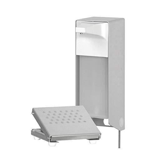 OPHARDT hygiene 214300 ingo-man TFS 24 A dispenser met voetbediening voor vloeibare zeep zonder wrijving en desinfectiemiddelen, aluminium, 1000 ml
