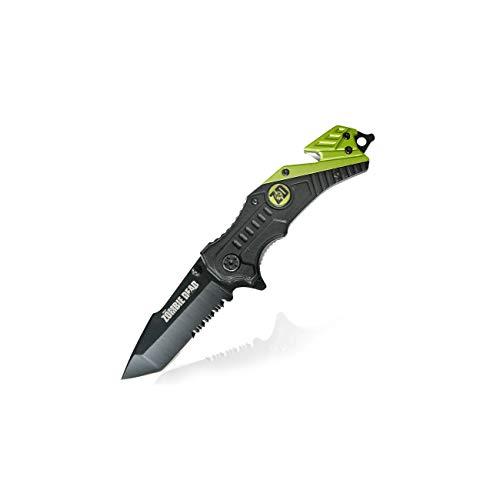 Haller Uni Zombie Dead Rescue Taschenmesser Messer, Schwarz, 0