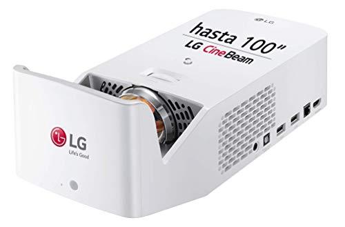 """LG CineBeam HF65LSR - Proyector TV de Tiro Corto (hasta 100"""", Fuente LED, 1.000 lúmenes, Resolución 1920 x 1080) Color Blanco"""