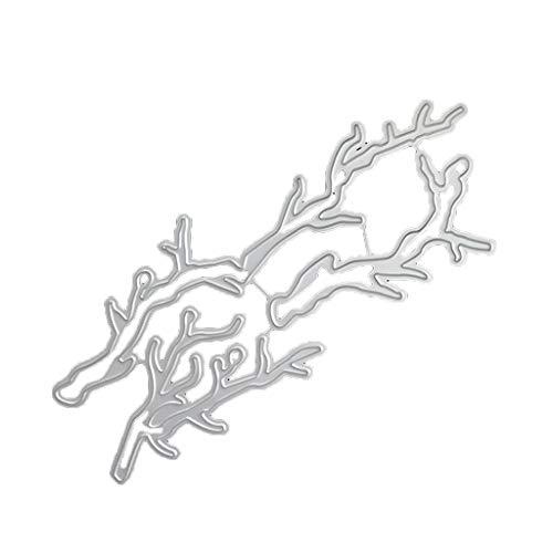 Kcibyvx Stanzschablone Äste,Prägeschablonen Stanzformen Schablonen für Scrapbooking, Fotopapier, Karten,DIY Herstellung Das Erntedankfest Ostern Geburtstag Neujahrsgeschenk