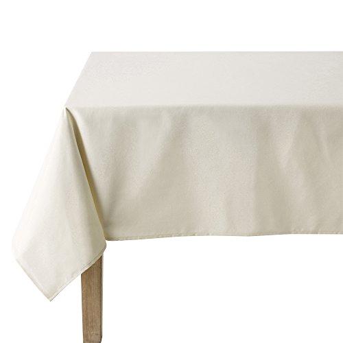 Coucke Nappe Ronde Uni Crème Coton 180 cm