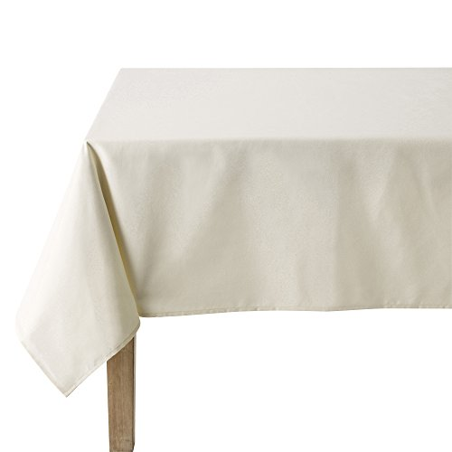 Coucke Nappe Rectangle Uni Crème Coton 160 x 240 cm
