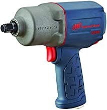 """Ingersoll Rand 2235TiMAX 1/2"""" Drive Air Impact Wrench – Lightweight 4.6 lb Design, Powerful Torque Output Up to 1,350 ft-lbs, Titanium Hammer Case, Max Control, Gray"""