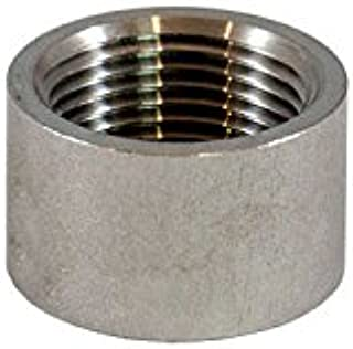"5 3//4/"" .75/"" 316 SS Stainless Steel Threaded Half Coupling Weld Pipe Bung />304"