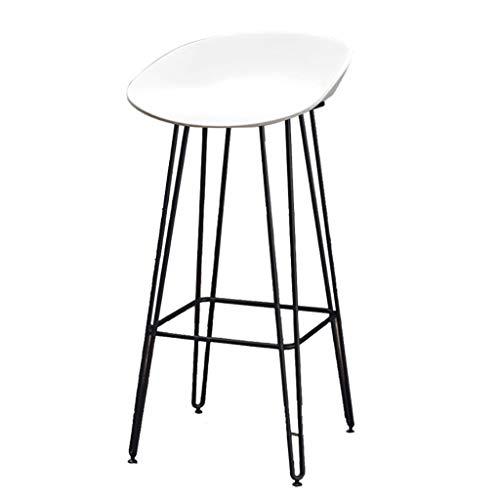 Tabouret de Bar Tabouret Repas Chaise de Cuisine   Bar   Tabouret pour Petit-déjeuner avec siège en PP et Pieds en métal   Charge maximale de 330 LB, Noir/Blanc/Jaune