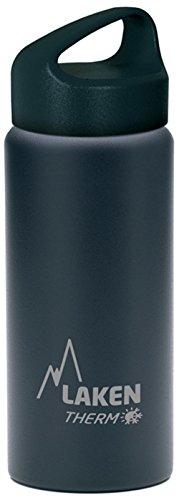 Laken Classic Botella Térmica Acero Inoxidable 18/8, Aislamiento de Vacío con Doble Pared y Boca Ancha, Negro, 1000 ml