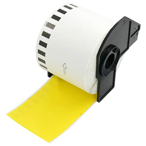 BETCKEY Kompatible Endlose Etiketten Label, Ersatz für Brother DK-22205, 62mm x 30.48m, Verwendung mit Brother QL-Etikettendruckern [1 Rollen, Gelb]