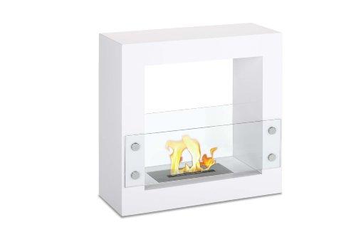 自立型 通気口なし バイオエタノール暖炉 - Tectum ミニホワイト | Ignis