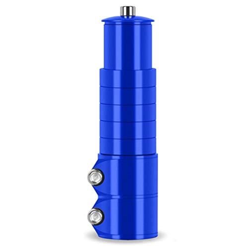 VHHV Riser de Guidon de Vélo Prolongateur de Tige Augmenter 70mm / 100mm Vélo Fourche Adaptateur Tête Haute Réglable Alliage D'aluminium 28,6mm (Calibre Universel) - Bleu (Size : 100mm)